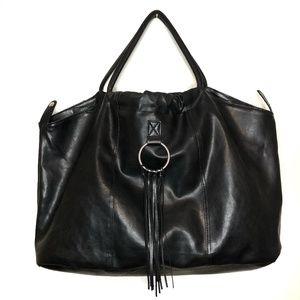 Boho Large Leather Hobo Fringe Bag Purse